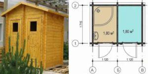 Строим летний душ и туалет под одной крышей
