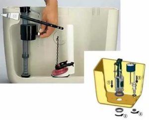 Как разобрать бачок унитаза и собрать его при проведении ремонтных работ