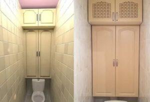 Как сделать шкаф в туалете за унитазом: несколько простых конструкций
