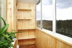 Отделка балкона деревом своими руками