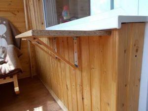 Складной стол на балкон своими руками