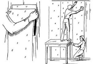 Установка дверей до или после поклейки обоев