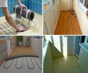 Что постелить на пол на балконе