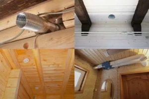 Вентиляция в деревянном доме – виды и устройство