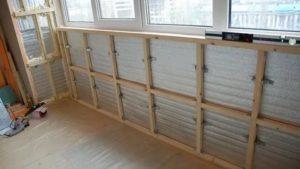 Обрешетка под ПВХ панели на балконе