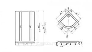 Душевые уголки с низким поддоном. Материалы для изготовления поддонов. Базовые типы дверок. Установка конструкции