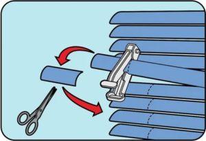 Как укоротить жалюзи горизонтальные по ширине
