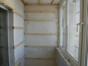 Обрешетка под вагонку на балконе
