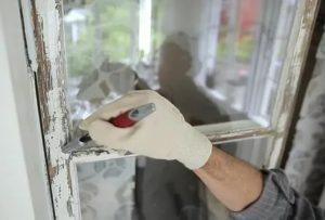 Как очистить окно от старой краски