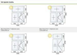 Размер окна в панельном доме 9 этажей