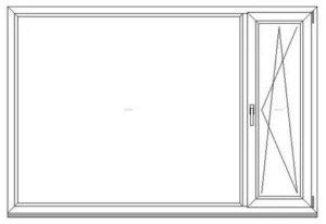 Максимальный размер глухого пластикового окна