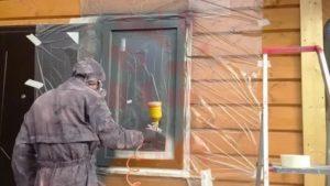 Как покрасить пластиковые окна в коричневый цвет