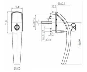 Устройство ручки пластикового окна