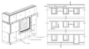 Расстояние между окнами в углу здания