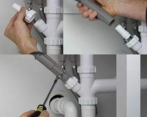 Как происходит подключение посудомоечной машины к канализации