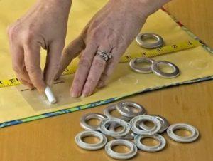 Как сделать кольца на шторах самостоятельно?