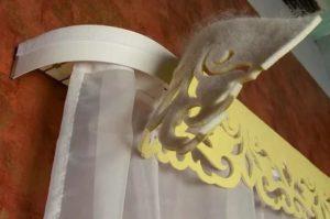 Как украсить карниз для штор своими руками
