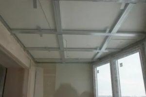 Потолок из гипсокартона на балконе своими руками