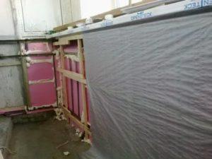 Пароизоляция балкона изнутри