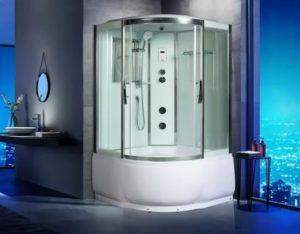 Душевая кабина с гидромассажем, турецкой баней, тропическим душем и другими полезными функциями