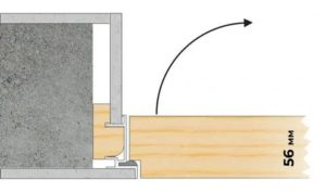 Скрытая установка дверной коробки