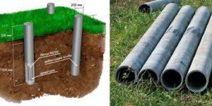 Фундамент из асбестовых труб своими руками: как правильно его рассчитать и смонтировать