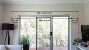 Размер карниза относительно окна