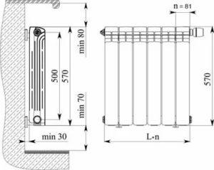 Монтаж радиаторов: конструкционные особенности, установка чугунных, биметаллических и алюминиевых батарей