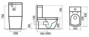 Унитаз-моноблок: особенности и конструкция