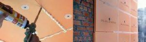 Чем клеить пеноплекс к кирпичной стене
