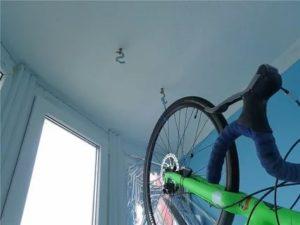Хранение велосипеда зимой на балконе