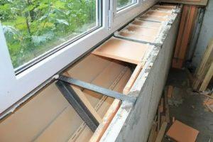 Вынос балкона по подоконнику своими руками