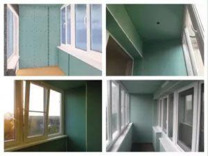 Отделка балкона гипсокартоном своими руками