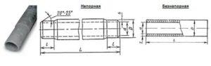 Размеры асбестоцементных труб и их применение
