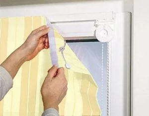 Как прикрепить занавеску к пластиковому окну