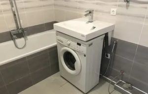 Умывальник над стиральной машиной: правила выбора и монтажа