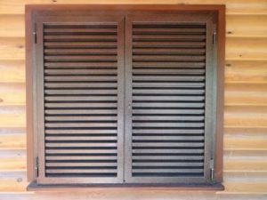 Жалюзийные ставни на окна деревянные