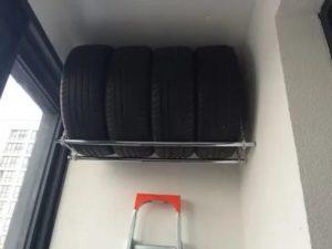 Можно ли хранить шины на балконе