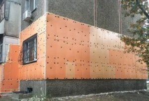 Установка пеноплекса на стену