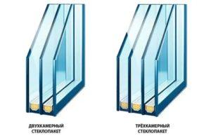 Чем отличается двухкамерный стеклопакет от трехкамерного