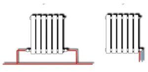 Подключение радиаторов в однотрубной системе. Перекрестное, седельное, одностороннее и нижнее соединение