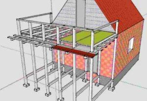 Как сделать балкон над верандой