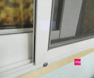 Как установить москитную сетку на алюминиевый балкон