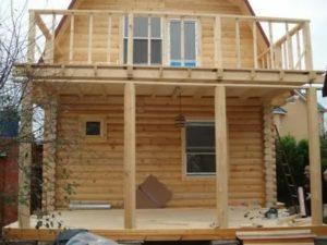 Балкон в каркасном доме своими руками