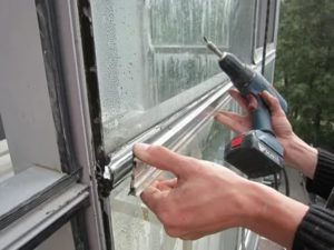 Замена стеклопакета в алюминиевом профиле
