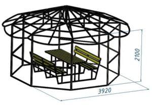 Беседка из профильной трубы: строительство с применением доступных инструментов и материалов