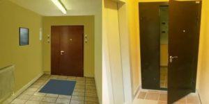 Установка дверей в подъезде на этаже