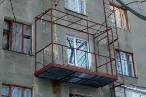Как увеличить балкон в панельном доме