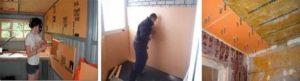 Как крепить пеноплекс к кирпичной стене?