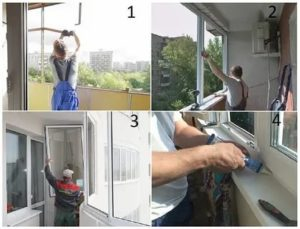 Установка раздвижных окон на балконе своими руками